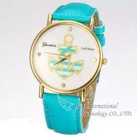 2014 New Geneva Women Dress Watch PU Leather Quartz Watches Hook Ladies  Wristwatches Fashion Wristwatches Dropship