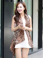 Free Shipping New 2014 Fashion joker Jewelry Autumn Winter Scarf Korean Beautiful Tabby Leopard Grain Chiffon Womens JZ082403