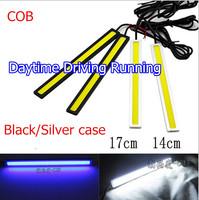 Supper lights,2pcs/lot 14cm 12V Ultra-thin COB Chip LED Car Auto DRL Daytime Driving Running Fog Lights Lamp,Free shipping