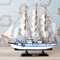 Boat decoration tomtit model wooden handmade soft wool decoration