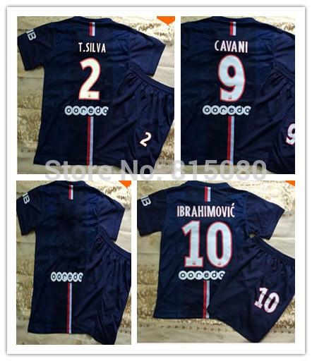 Can customed! Jersey 2014 2015 Soccer Jerseys Away Shirts Embroidered LOGO CAVANI #9 T.SILVA #2(China (Mainland))