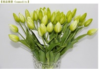 high quality artificial PVC 7 head tulip PVC tulip flower high 94cm artificial real touch flower wedding bouquet free shipping