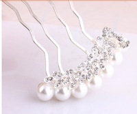 100pcs/lot fedex fast free shipping pearl peacock hair comb wedding hair Jewelry bride accessories hairwear bridal Jewelry