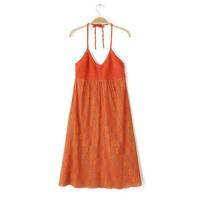 New Fashion Ladies' Vintage geometric print red Dress sexy spaghetti strap backless casual  vests--H821