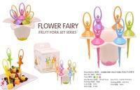 Free shipping flower fairy fruit fork beautiful fork fruit fork set series 6pcs/set Special price