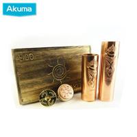 Akuma Mod magnetic switch Copper 3 Tube Akuma Battery Body for 18350 18490 18650 battery drop shipping