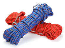 3KN spectra rope wire with shackle 10mm 10meter outdoor rock climbing rope climber rappelling rope(China (Mainland))