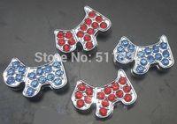 Wholesale 100pcs/lot 8mm rhinestones dog slide charm fit for 8mm pet dog cat tag