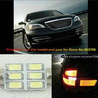 Free Shipping 2Pcs/Lot 31mm 12v Car Led Rear Turn Signal Light For Chrysler 200 300 2013
