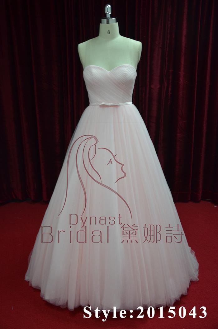 Beautiful Lavender Purple Pink 2015 Hot Sale Bridal Gown Latest Flowy Dresses Bride Wedding Dress(China (Mainland))