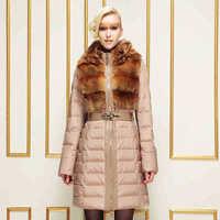 2014 Hot Winter Thicken Warm Women Down jacket Hooded Coats Rabbit Fur collar Outerwear Long Luxury Slim  Plus Size 3XXXL