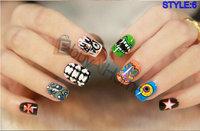 50packs/lot wholesale false nail DIY hand makeup fake finger nail tips good quality nail beauty nail sticker free shipping