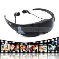 """Virtual AV Video Glasses 52"""" 4:3 Virtual Video Glasses Eyewear Mobile Theater Goggles w/AV-in FPV /Watch"""