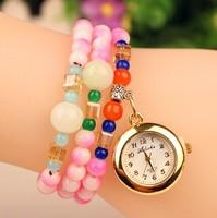 New 2014 Colorful Fashion casual quartz dress watch Women rhinestone Watches Quartz Watch Woman wristwatch relogio masculino