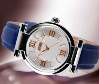 SKMEI 9075 Rose Series Ladies Watch diamond watch ladies fashion leather waterproof wrist watch Korean luminous