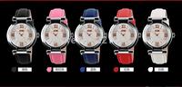 5pcs/lot SKMEI Rose Series Ladies Watch diamond watch ladies fashion leather waterproof wrist watch Korean luminous