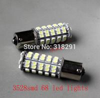 Free shipping LED 3528  68 SMD car   turn brake signal  light 1156 1157  ba15s bulb
