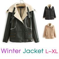New 2014 Women's Autumn/Winter Season Fashion Faux Wool Fleece Jacket/Coat/Parka/Overcoat