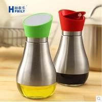 High-grade stainless steel oiler bottle leak dust vinegar sauce bottle cruet condiment jar of honey