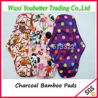 New Patterns Cloth Menstrual Pads Charcoal Bamboo  Sanitary Napkins Mama pads