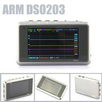 Sale! Titanium Color ARM DSO203 Nano V2/Quad 4CH Digital MINI Oscilloscope Silver/Transparent 4 Channel 72MS/S-Metal Cover