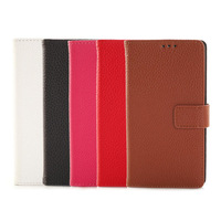 Free shipping&50pcs/Lot Litchi wallet leather Case Cover For SONY Xperia Z3 mini M55W with stand and card slot