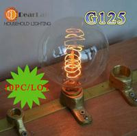 (10PC/LOT) Wholesale PriceG125(Diameter 80mm)Vintage Incandescent Edison Bulb For Decoration,, Antique Vintage Edison lamp Bulb