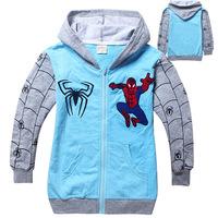 free shipment and wholesale new childrengirl fashion spideman  Hoodle cotton leisurepink Sweater overcoat