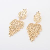 2014 New Trendy 1pair Retro Vintage Alloy Women Silver Golden Long Bohemian Pierced Earrings For Women