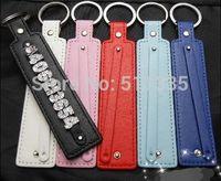 Wholesale 50pcs PU leather key chain fit for 8mm diy slide charm letters