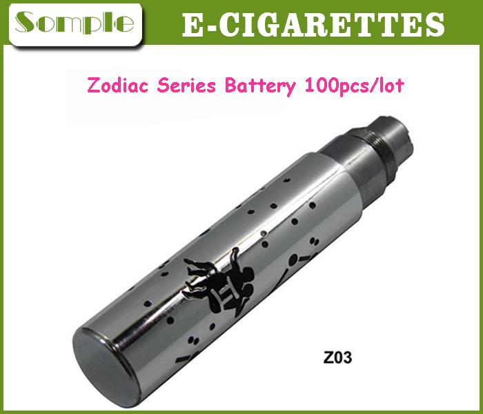 100pcs/lot Zodiac Series Battery 650mah 900mah 1100mah For E Cigar For CE4 Atomizer E-Cig Battery 12 Zodiac Battery 100pcs/lot(China (Mainland))