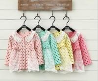Fashion Polka dot  long sleeve coat  ,S-XL,1pcs/iots,Free shipping