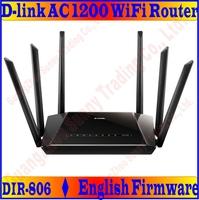English Firmware D-LINK AC1200 Wireless Dual Band Gigabit WiFi Router Sextuple Antenna 11AC (DIR-806), PROM10