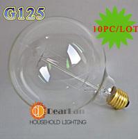 (10PC/LOT)Wholesale Price(G125)Vintage Edison light Bulbs For Decoration,Fashion Incandescent Edison Bulb Fixture,E27/220V,
