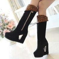 2014 winter women's boots thigh high boots zipper design height over the knee boots winter shoesXY239