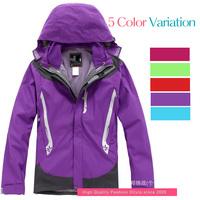 2014 New Women's Windstopper Waterproof Jacket Autumn Winter Hunting Camping Hiking Thermal Fleece Liner Outdoor Jacket