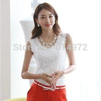 Large yard sleeveless shirt Slim Sexy Cotton Lace Camisole modal female