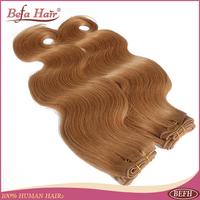 top selling 4pcs/lot 12-24inch grade 6A human hair bundles european Body Wave 27# color  free shipping