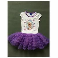 Girl Elsa Princess Dress Girls' Summer Frozen Dresses New 2014 Wholesale Kids Clothes S-2870