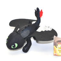 "Free Shipping How To Train Your Dragon 2 * TOOTHLESS Night Fury Plush toy 8"" #2"
