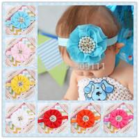 1pc  Beautiful Headband Hairband Baby Girls Flowers Headbands Kids' Hair Accessories HB282