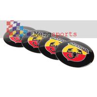 80pcs 20 sets ABARTH 3D wheel cneter cap Sticker Badges Emblem 56.5mm