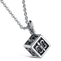 2014 New Fashion 316L Stainless Steel  Men's vintga Square  Pendant , Men Pendants Necklace SS036P