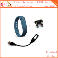 3 in 1 Replacement part for fitbit flex 1 sleep large slate wristband and 1 USB charger cable and 1 metal clasp ca000115116large