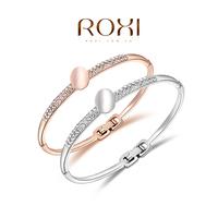 2014 ROXI -Fashion Crystal bracelet. Bangle AAA zircon,Summer/Birthday gift. Environmental Micro-Inserted Hemp Rope Jewelry