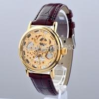 Fashion man watch men mechanical wind leather strap watches MCE brand whatch men relogio masculino