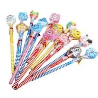 24pcs little bean cartoon mechanical pencil creative pencil, lovely student stationery