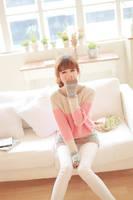 2014 Korean version bottoming hedging sweater peach heart pattern stitching loose sweater coat women