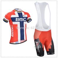 BMC 2014 Cycling Jersey bib kit Short Sleeve bib Shorts ropa Ciclismo bicycle Cycling tight fitness clothes Maillot MTB bike