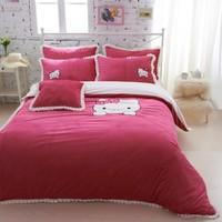 Textile short plush piece set piece bedding set